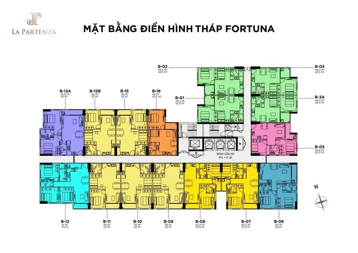 mat bang thap fortuna