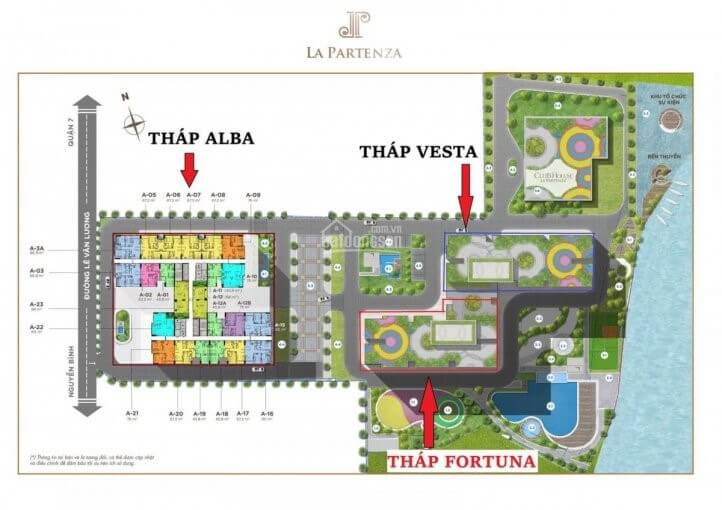 Mặt bằng tổng thể dự án La - Partenza